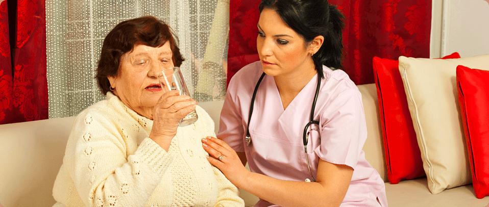 Nurse take care her patient